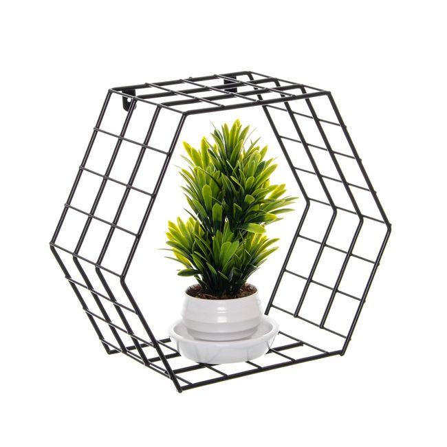 Nicho-decorativo-hexagonal---Linha-Wire