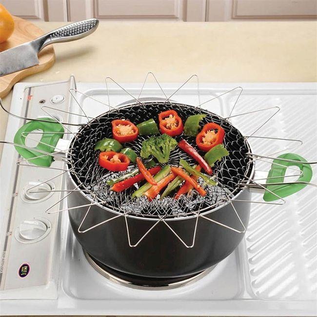 Cesta-em-Inox-multiuso-para-Cozinhar-Fritar-Vaporizador-e-Escorrer-Alimentos