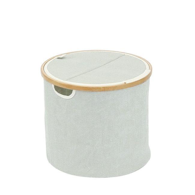 Cesto-Organizador-Thai-redondo-com-tampa-desmontavel-em-tecido-com-bambu