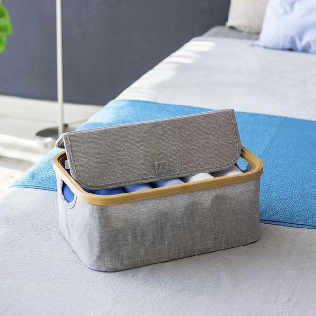 Cesto-Organizador-Thai-retangular-com-tampa--em-tecido-com-bambu