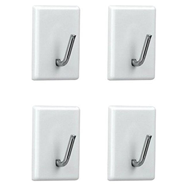 Kit-com-4-mini-ganchos-adesivos-multiuso---Branco-Metalic