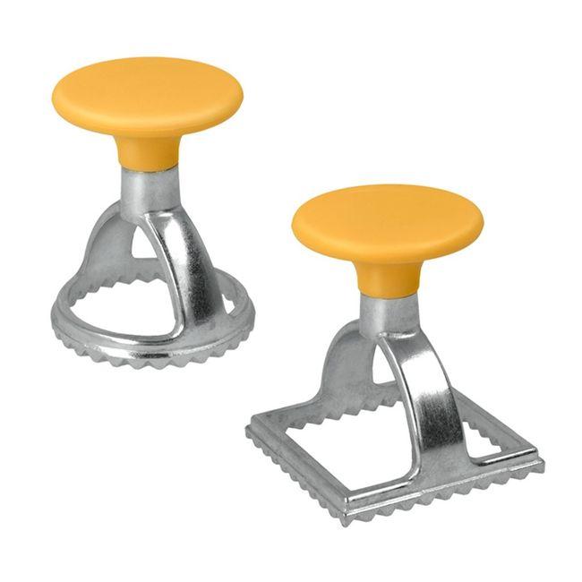 Conjunto-com-2-Cortadores-de-Massa-para-Ravioli-Quadrado-ou-Redondo-em-aluminio---Metalic