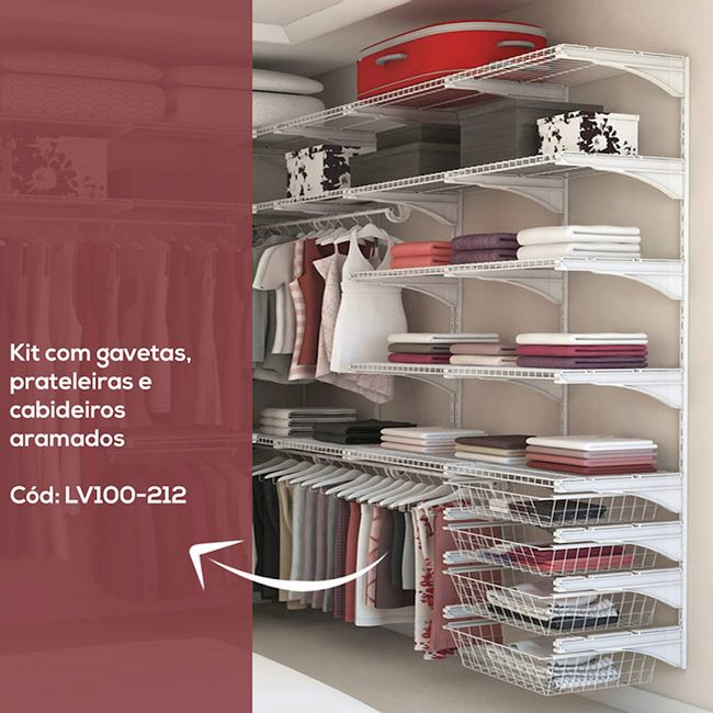 Kit-Closet-ou-Quarto-Aramado---2-m---15-pcs