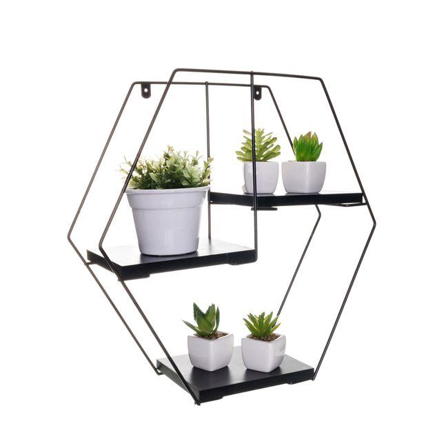 Prateleira-Rustica-Decorativa-Hexagonal
