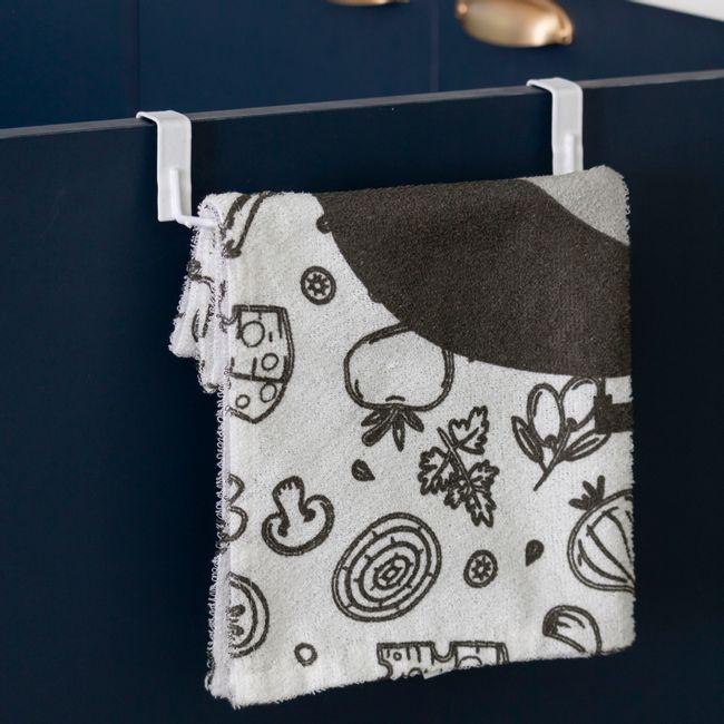 Porta pano de prato aramado para armário de cozinha