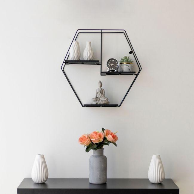 Prateleira-Aramada-Rustica-Decorativa-Hexagonal